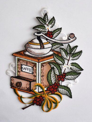 Stickereien Plauen Fensterbild »Kaffeemühle« (1 Stück)