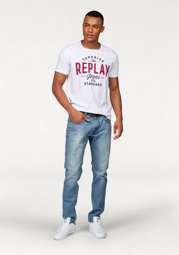 Replay T-Shirt, mit Markenprint
