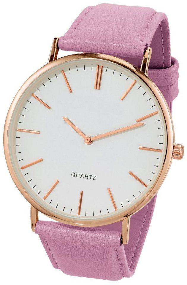 Heine Armbanduhr , elegant | Uhren > Sonstige Armbanduhren | Lila | Metall - Polyurethan | heine