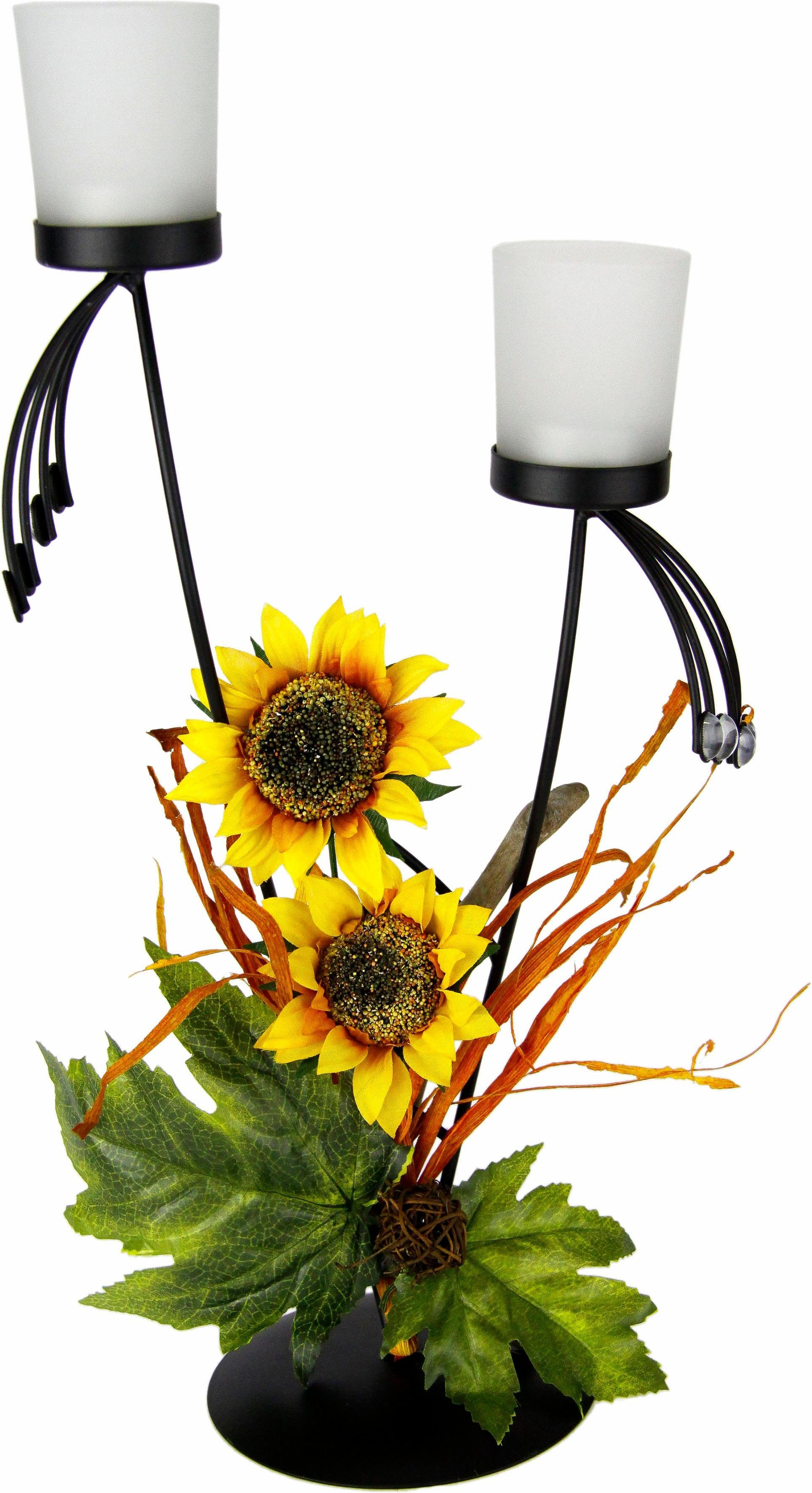 Home affaire Teelichthalter »Sonnenblume 43/20 cm«