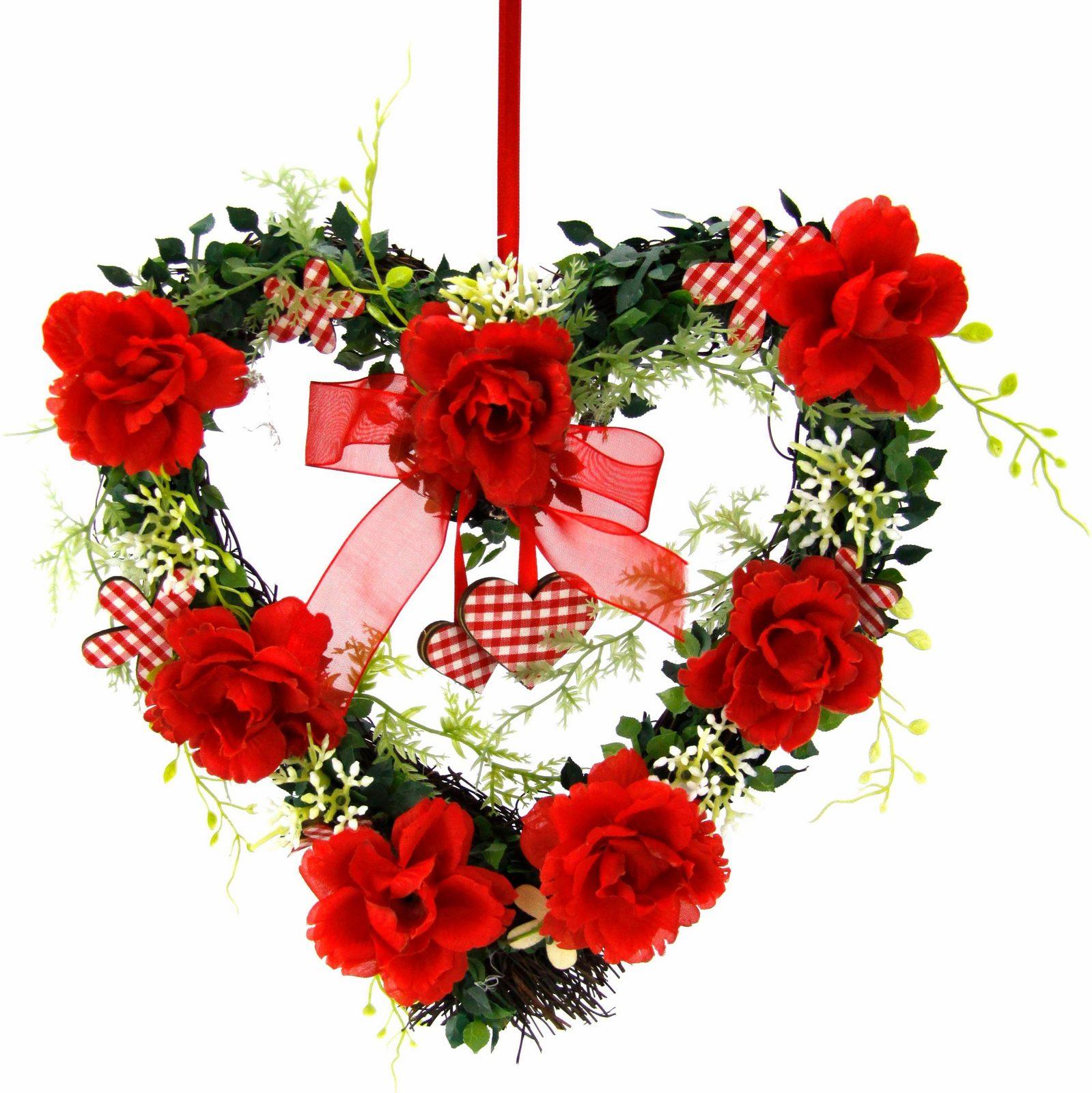 Kunstpflanze »Herz Rosen 25/26 cm«
