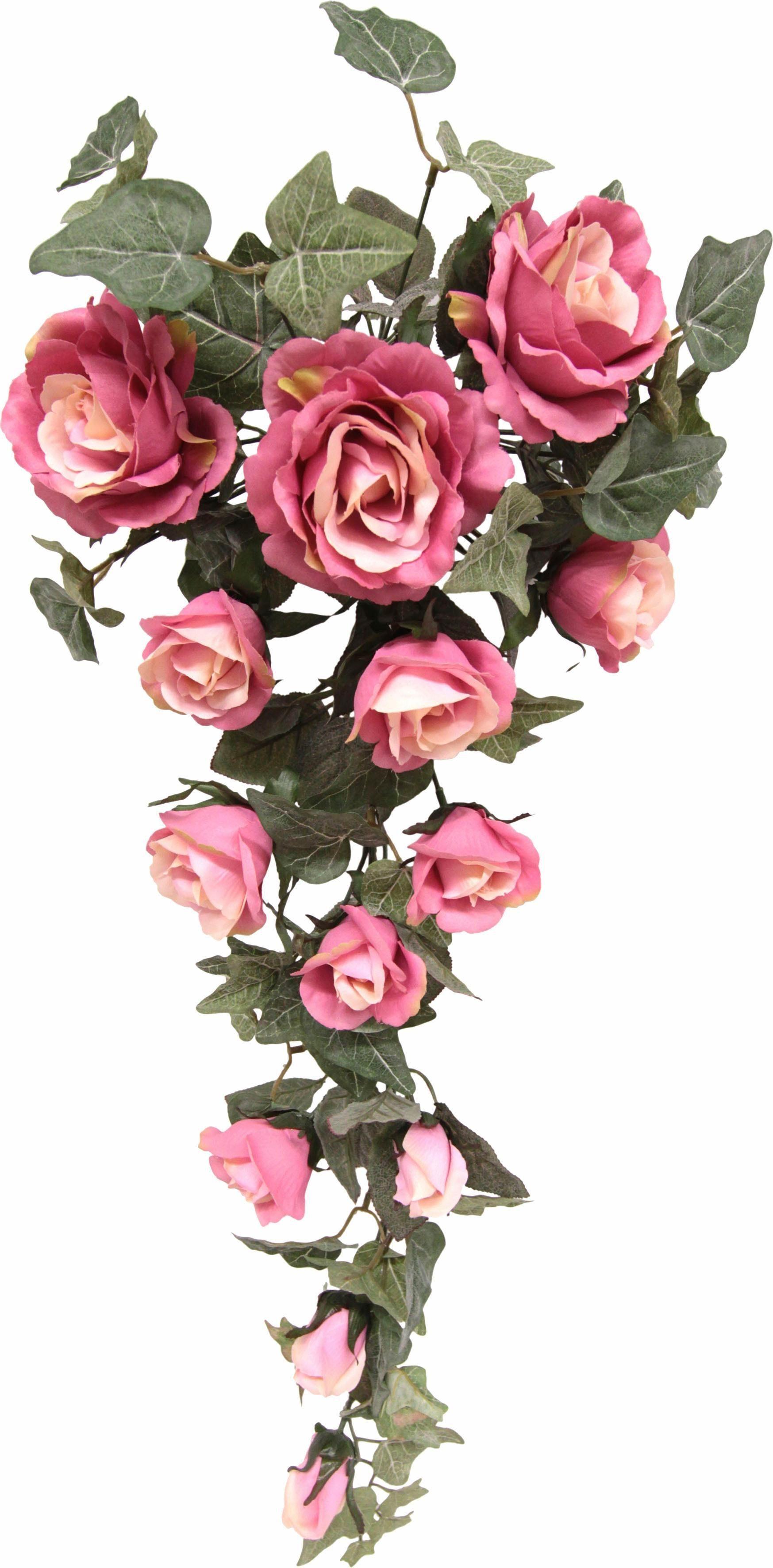 Kunstpflanze »Rosenhänger 70 cm«