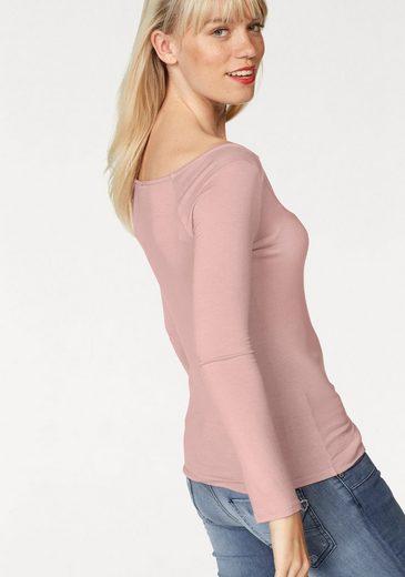 Please Jeans Langarmshirt, mit durchgehender Knopfleiste