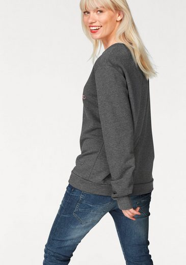Please Jeans Sweatshirt, mit Logo-Print