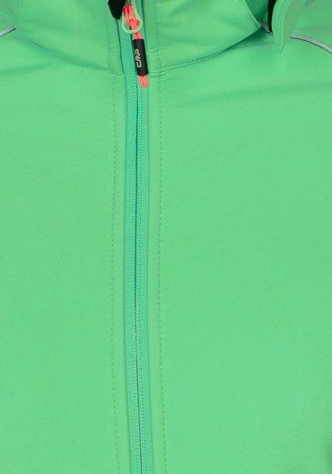 CMP Softshelljacke, mit abnehmbarer Kapuze