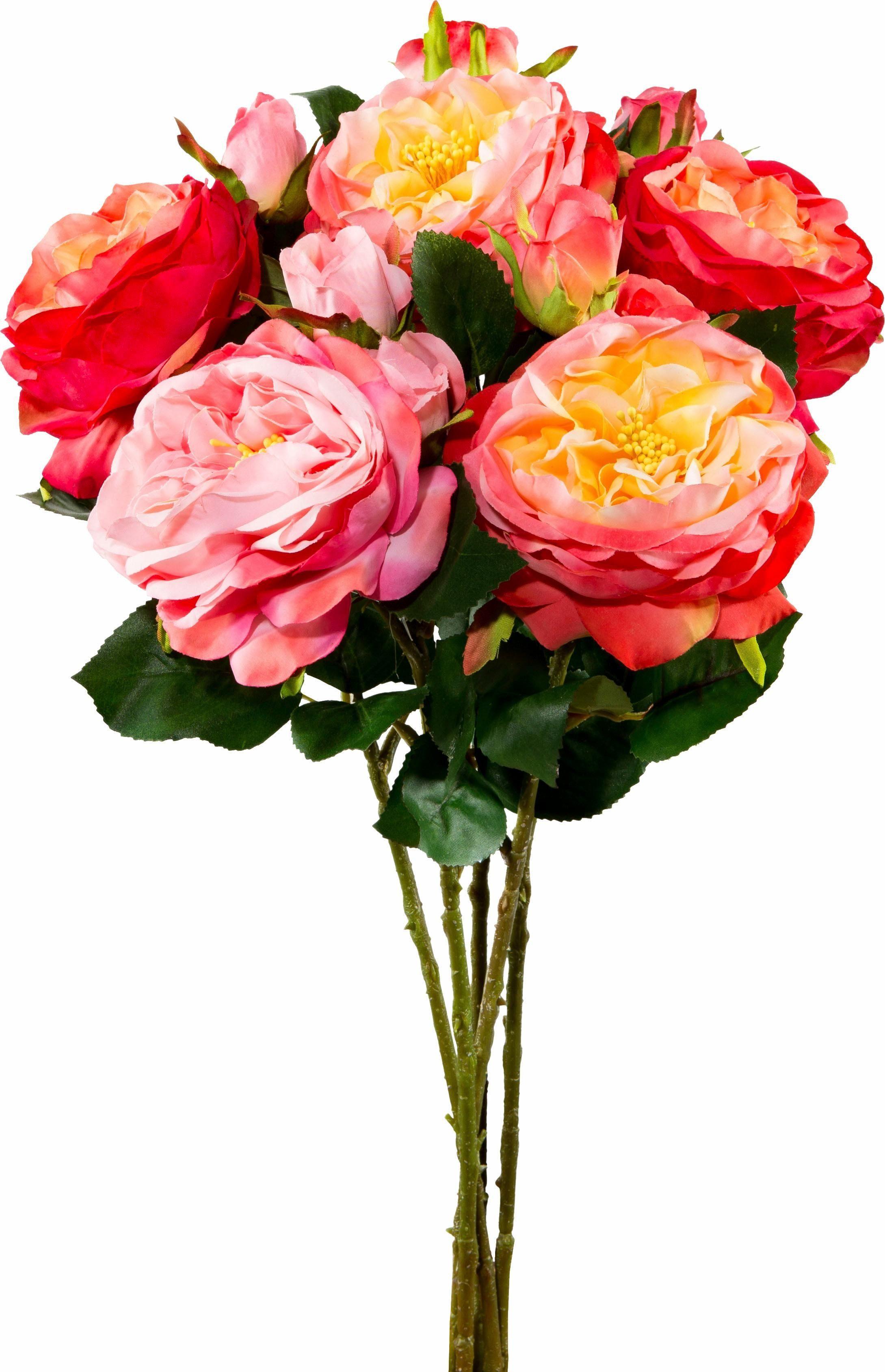 Kunstblume Gartenrose (5-tlg.)