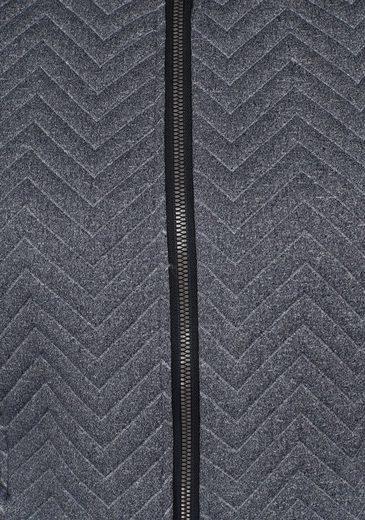 Killtec Sweatjacke BRIANA, teilweise mit Streifenstruktur