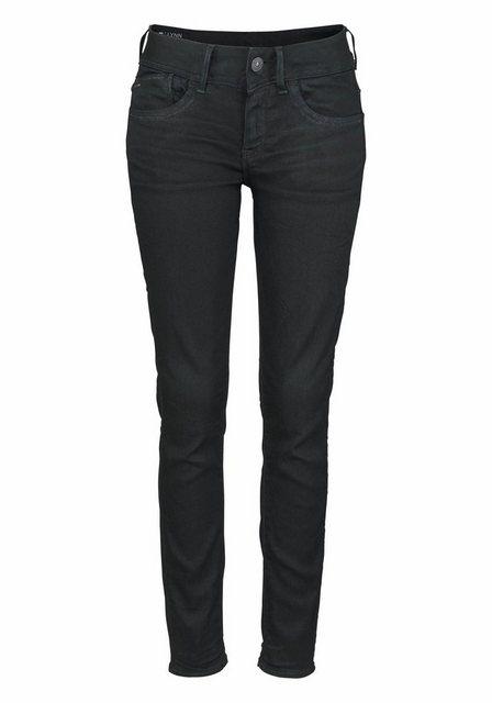 Damen G-Star RAW Skinny-fit-Jeans Lynn Mid Skinny mit Stretch schwarz | 08719367711468