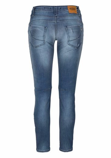 Please Jeans Boyfriend-Jeans P08I, mit Destroyed-Effekten