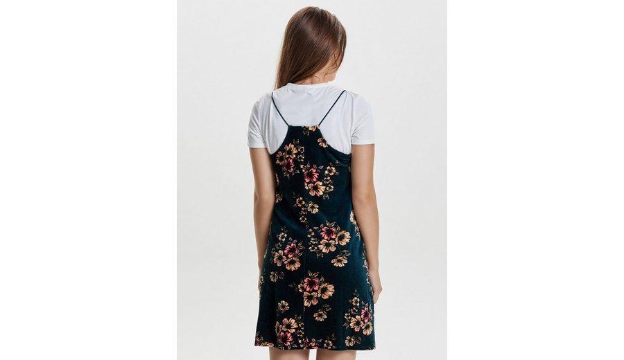 Billig Verkauf Verkauf Preiswert Only Detailreiches Kleid mit kurzen Ärmeln Für Schöne Online Steckdose Exklusive DleVW4b