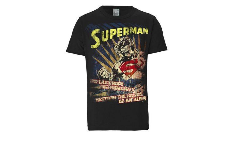 LOGOSHIRT Herrenshirt Superman Billigste Online 2018 Unisex Verkauf Online 9sHjIZ