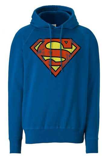 LOGOSHIRT Kapuzenpullover Superman