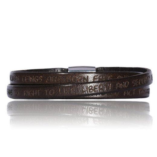 Gilardy Armband »Edelstahl Leder«