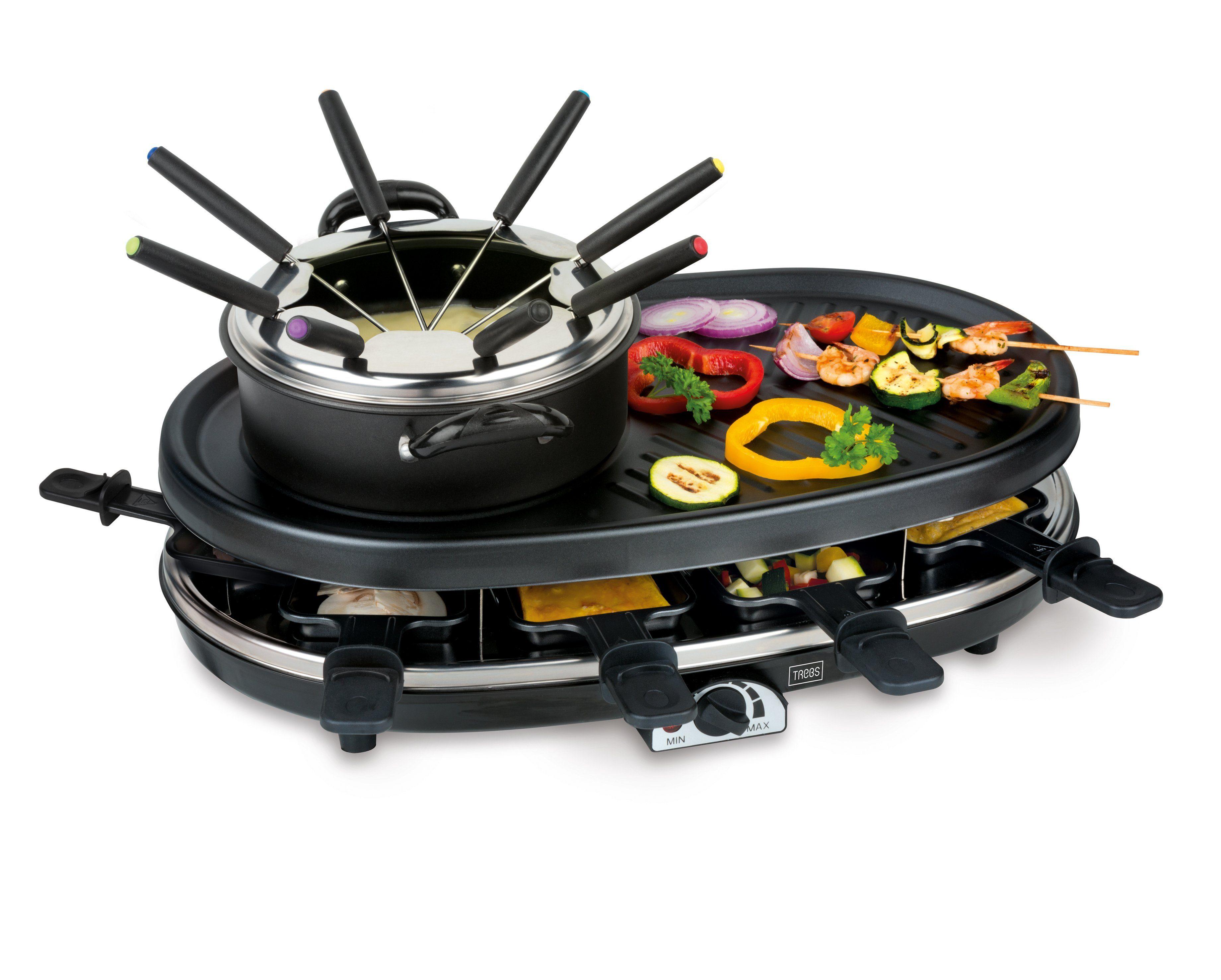 Trebs 4 in 1 Multifunktionsgerät (Fondue, Grill, Raclette und Gourmet) »99322«