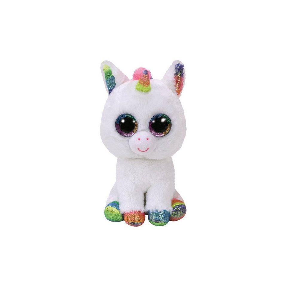 Ty® Beanie Boo Pixy, Einhorn weiß/bunt, 24 cm
