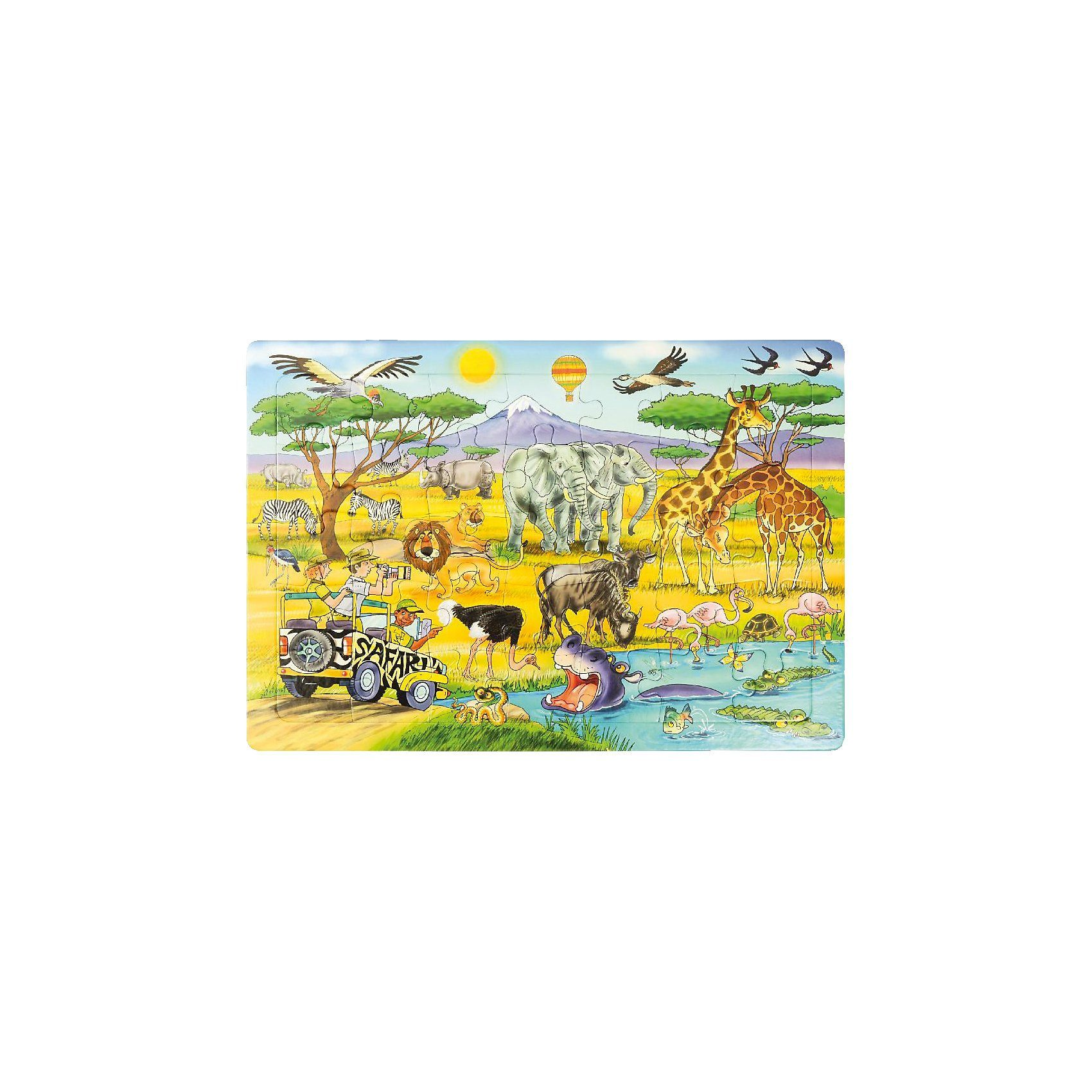 EDUPLAY Rahmenpuzzle Safari, 35 Teile