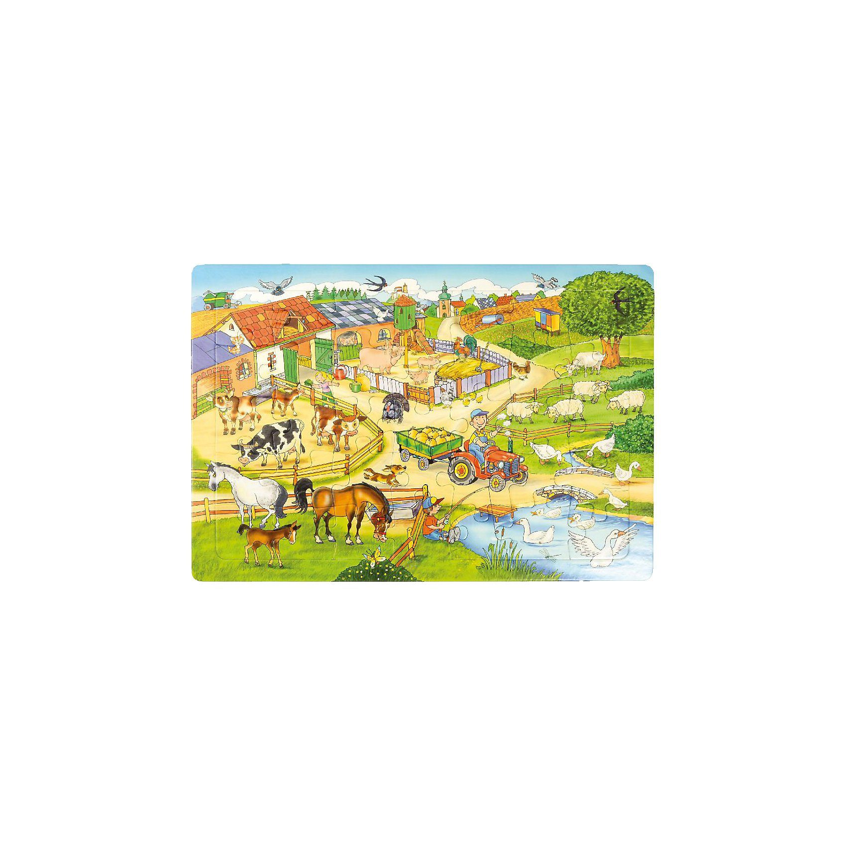 EDUPLAY Rahmenpuzzle Bauernhof, 35 Teile