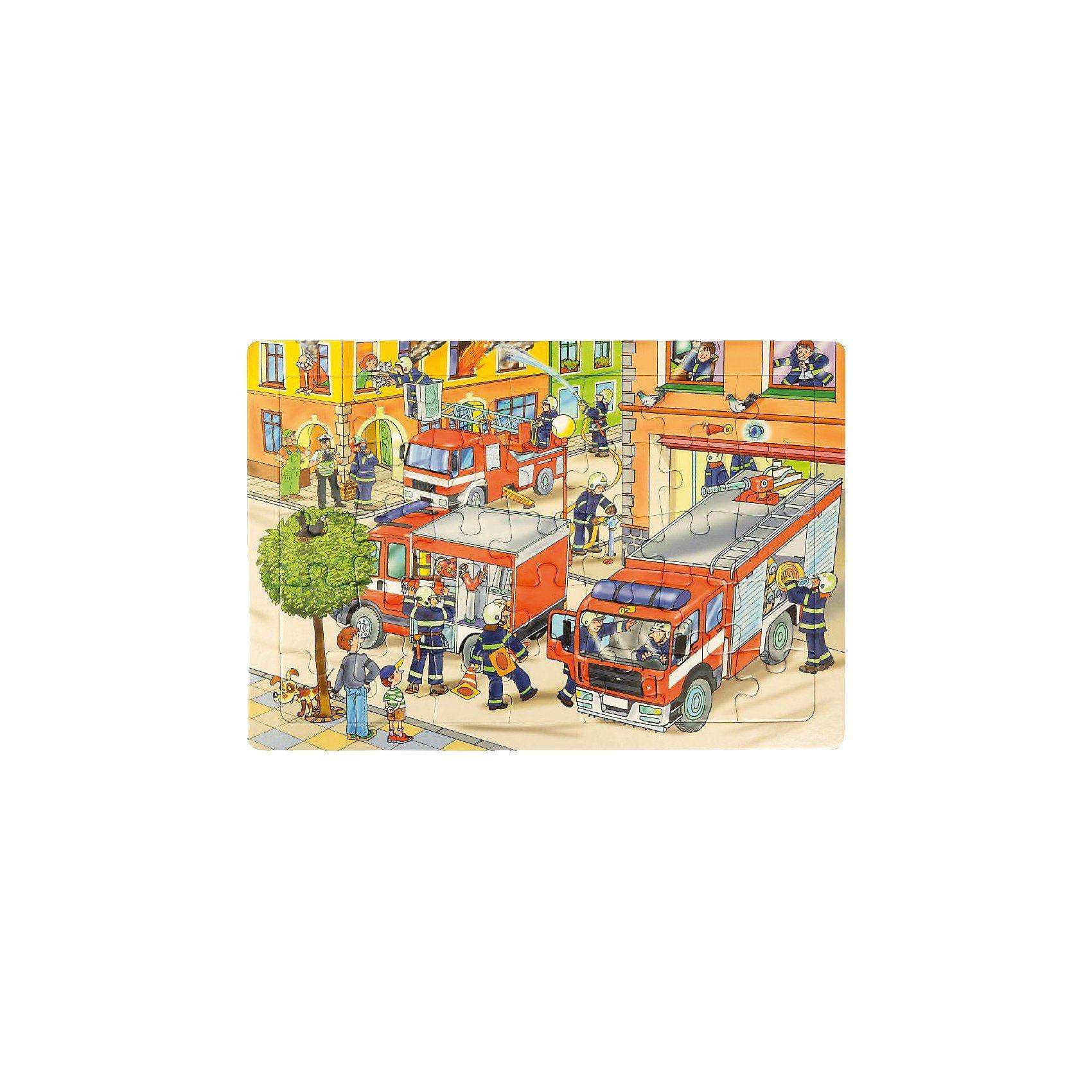 EDUPLAY Rahmenpuzzle Feuerwehr, 35 Teile