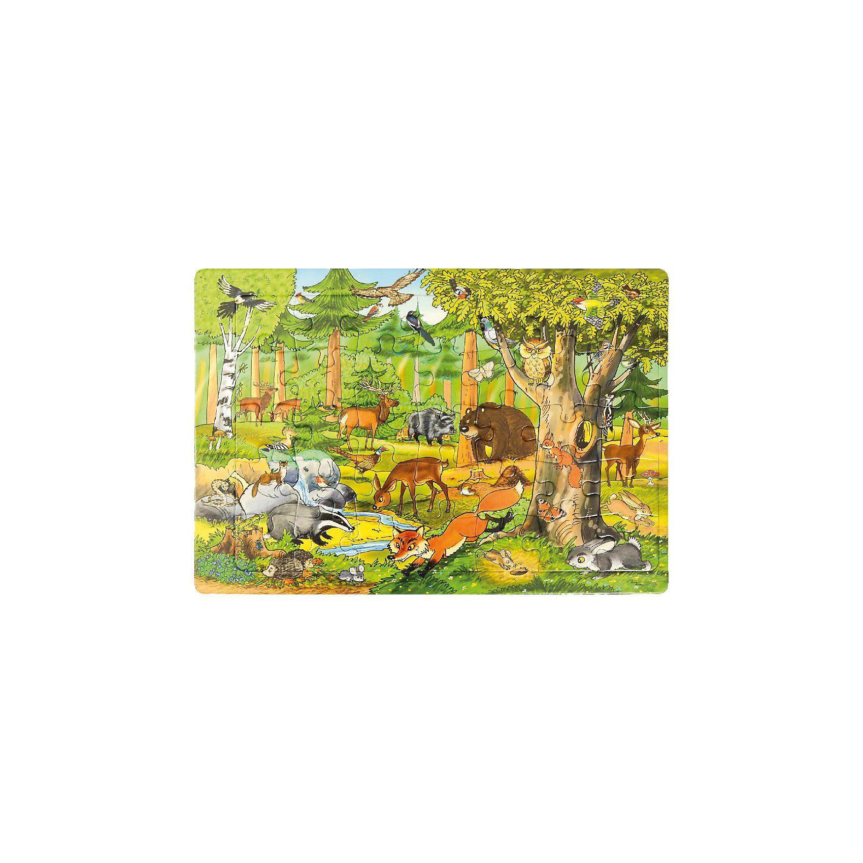 EDUPLAY Rahmenpuzzle Wald, 35 Teile