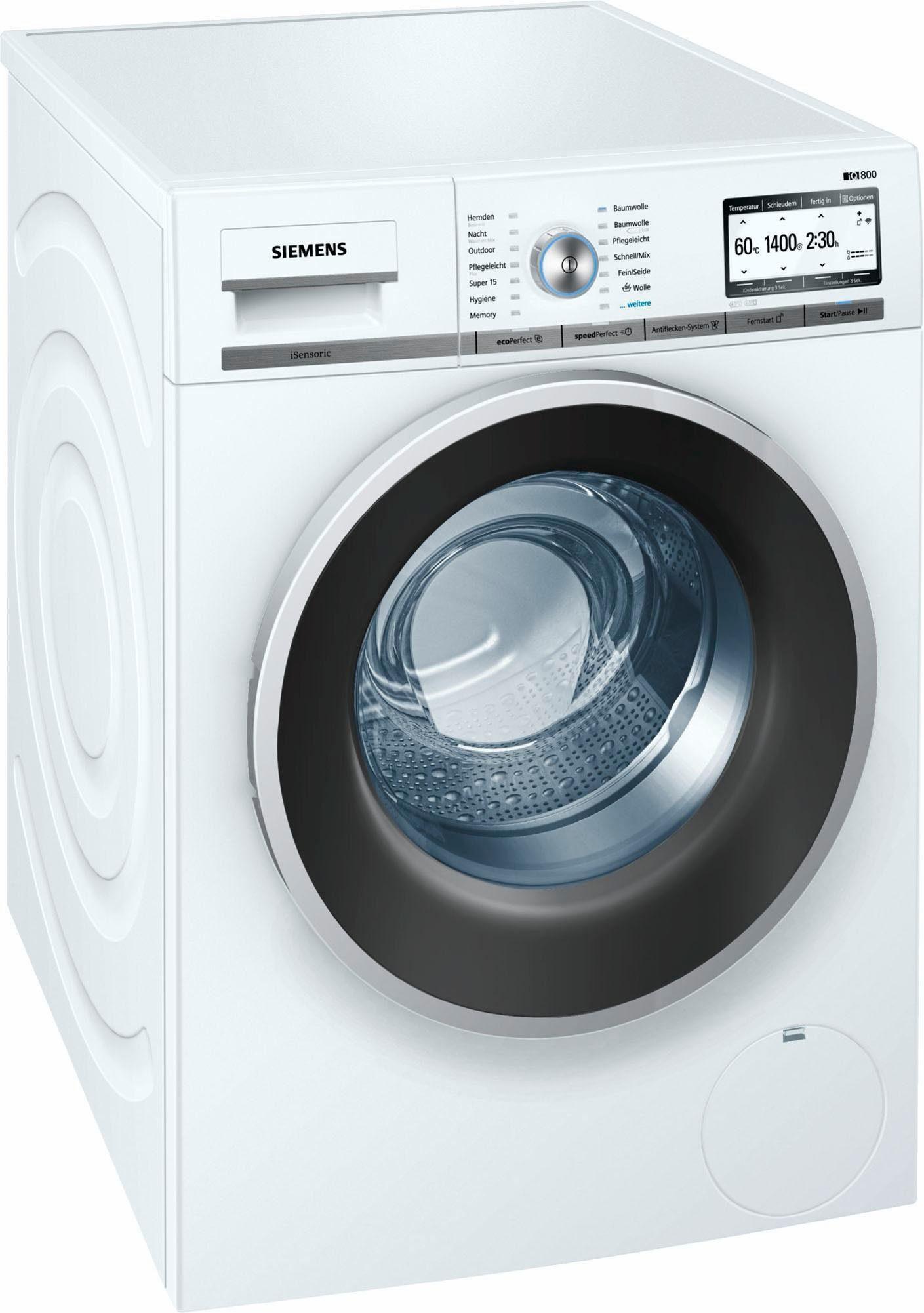 SIEMENS Waschmaschine iQ800 WM4YH7W0, 8 kg, 1400 U/Min