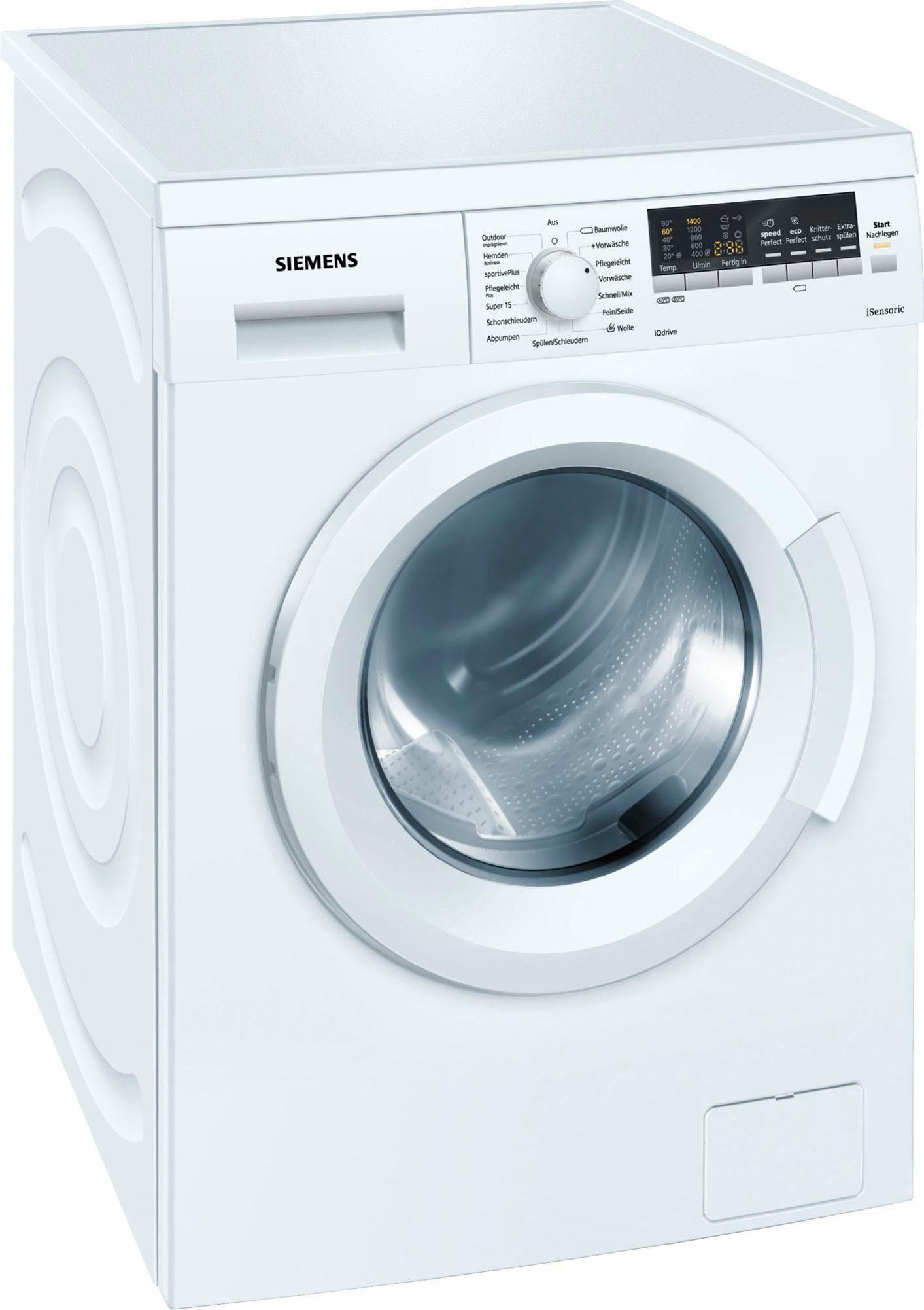 SIEMENS Waschmaschine WM14P420, A+++, 7 kg, 1400 U/Min