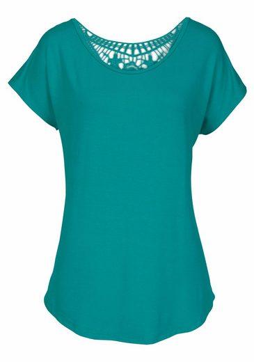 LASCANA Strandshirt mit Spitzeneinsatz
