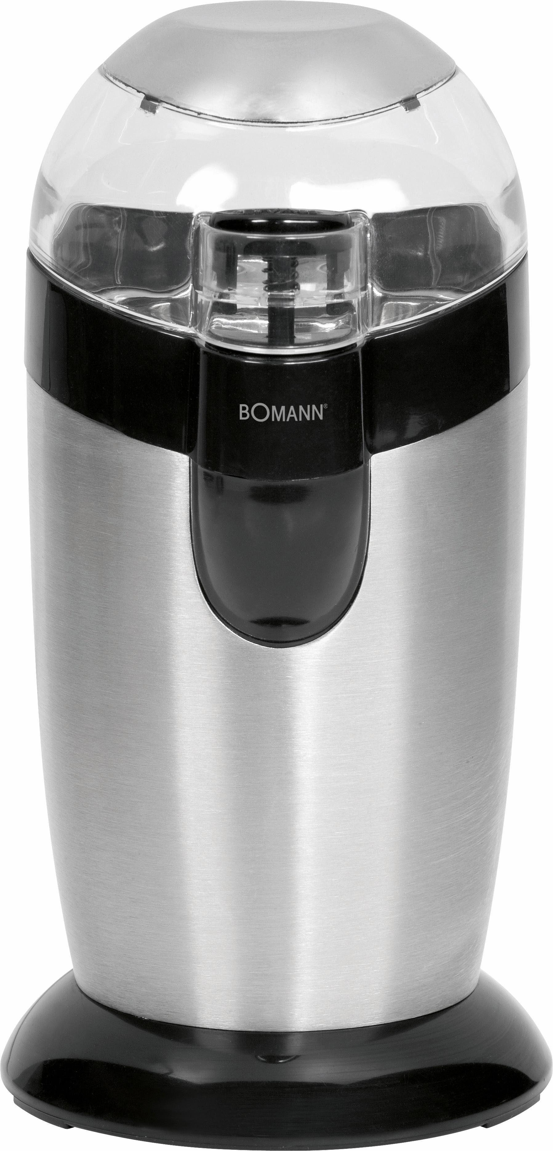BOMANN Kaffeemühle KSW 445 CB, 120 W, Schlagmahlwerk, 40 g Bohnenbehälter, mit Edelstahlmesser