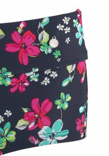 Damen s.Oliver RED LABEL Beachwear Hotpants Valencia mit Umschlagbund blau | 04893848822257