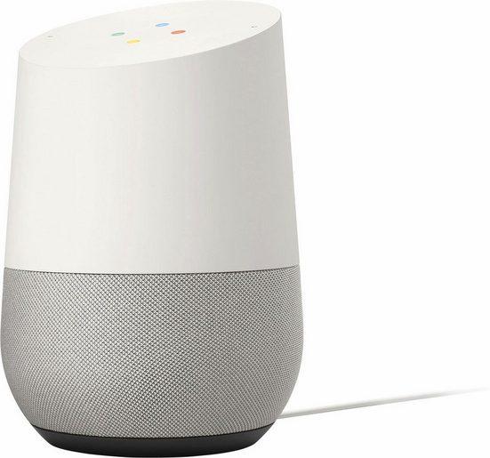 Google Home Multiroom-Lautsprecher (WLAN (WiFi), Google Assistant, Sprachsteuerung, Antworten von Google erhalten, Touchbedienung, Stummschalttaste)