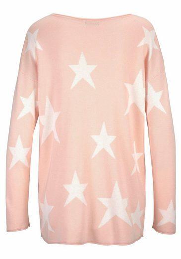 LASCANA Strandpullover mit eingestrickten Sternen