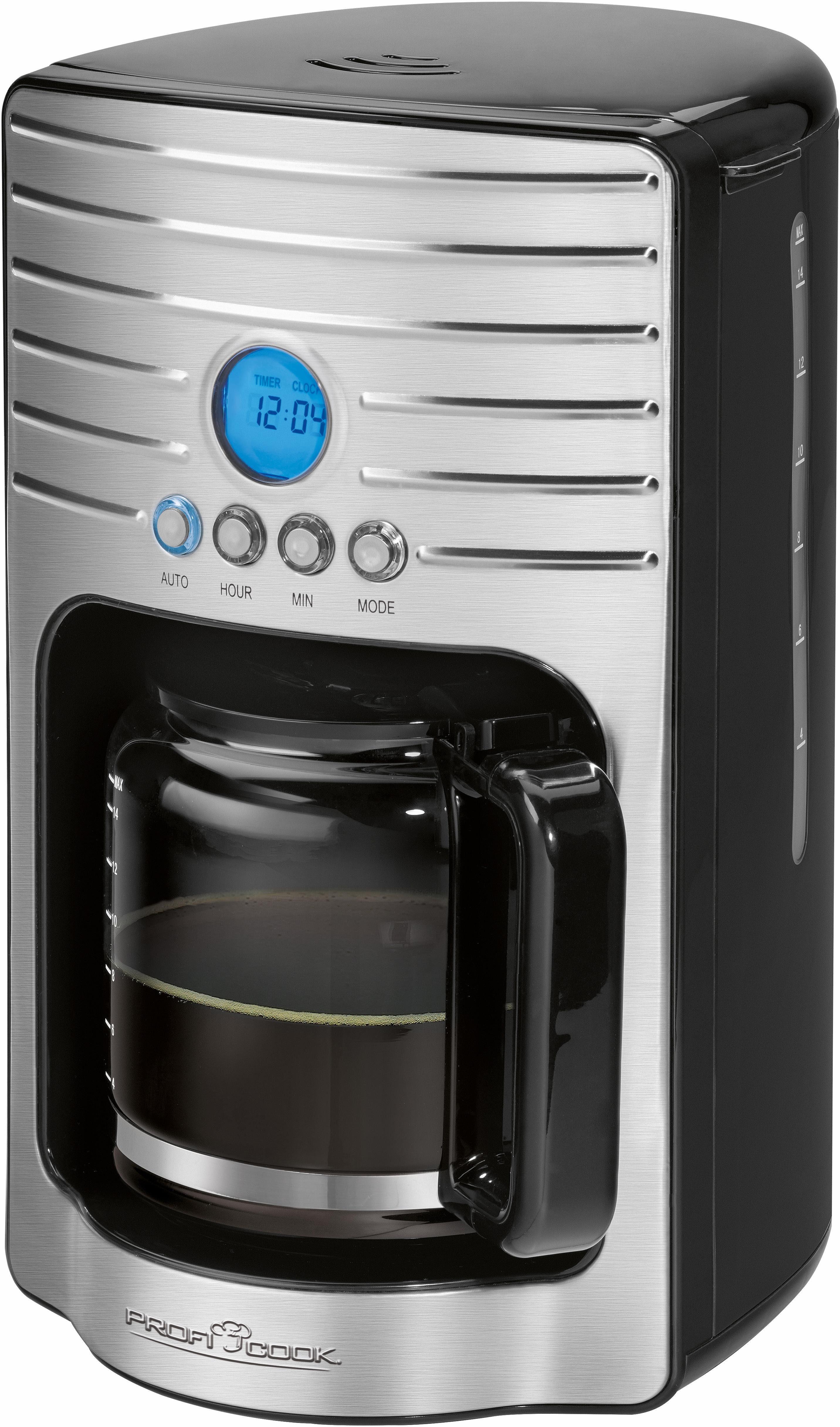 ProfiCook Filterkaffeemaschine PC-KA 1120, 1,7l Kaffeekanne, 1x4