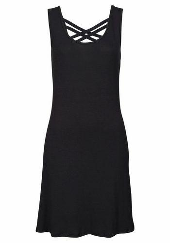 Damen Buffalo Strandkleid mit modischem Rückenausschnitt schwarz | 08698826352858