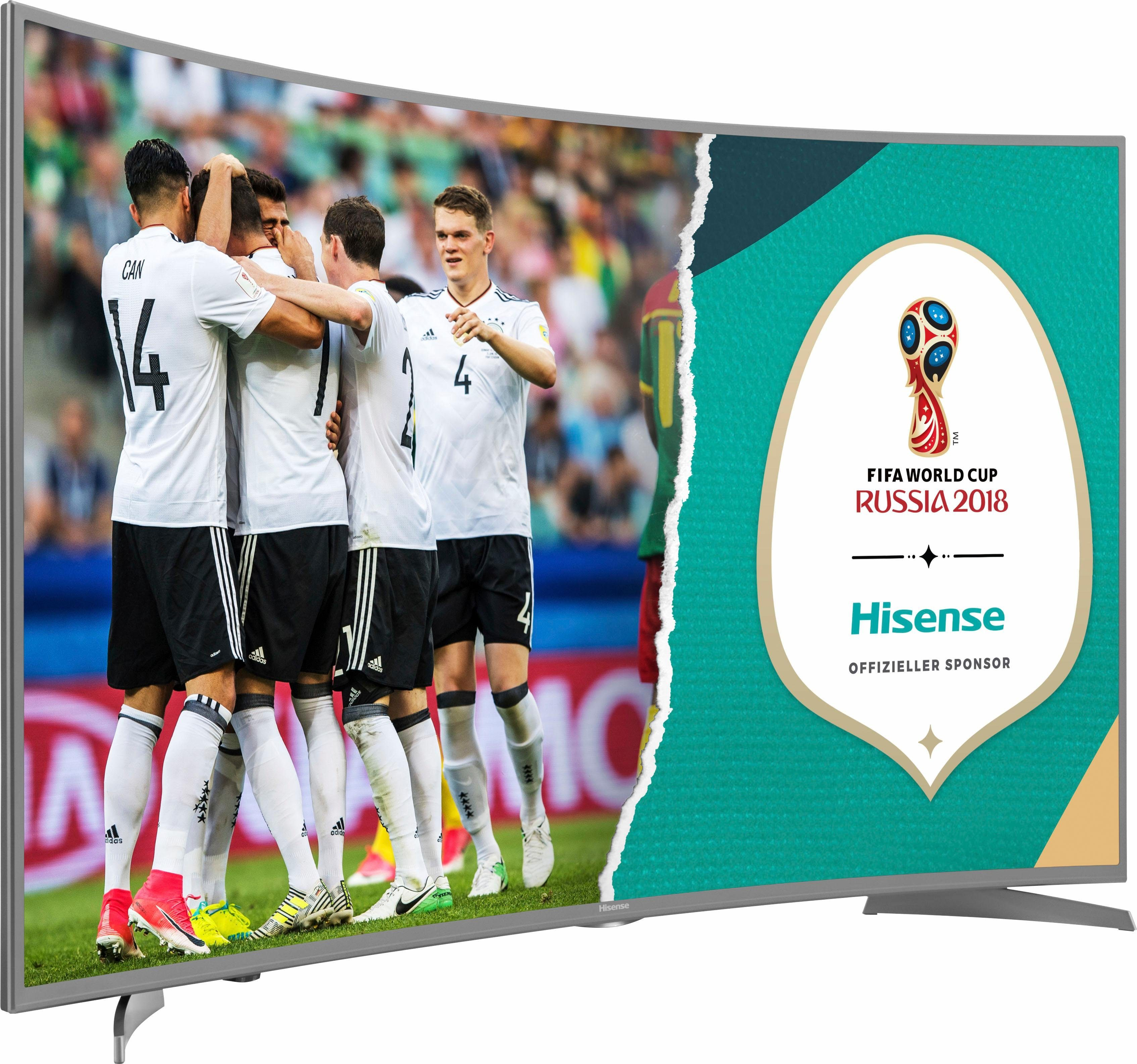 Hisense H55NEC6500 Curved-LED-Fernseher (55 Zoll, 4K Ultra HD, Smart-TV)