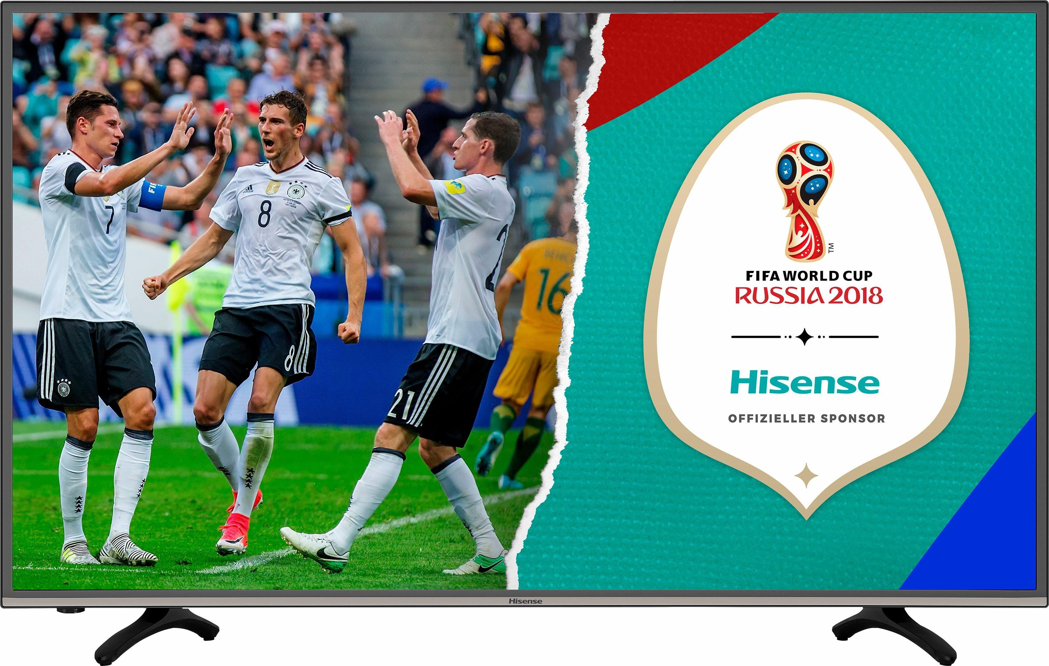 Hisense H43MEC3050, LED Fernseher, 108 cm (43 Zoll), 2160p (4K Ultra HD), Smart-TV