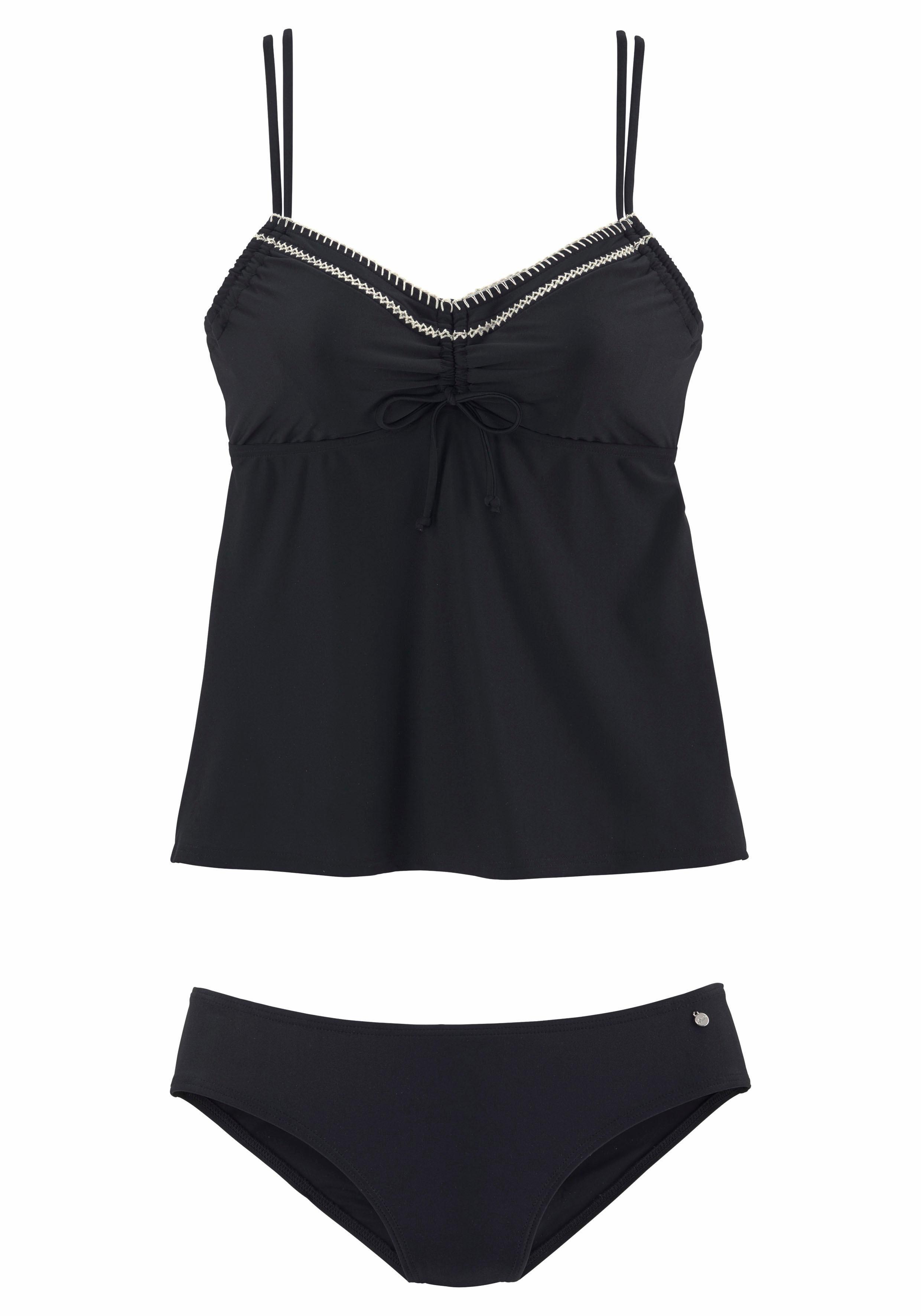 s.Oliver RED LABEL Beachwear Bügel-Tankini mit Häkelkante | Bekleidung > Bademode > Tankinis | Elasthan | s.Oliver RED LABEL Beachwear