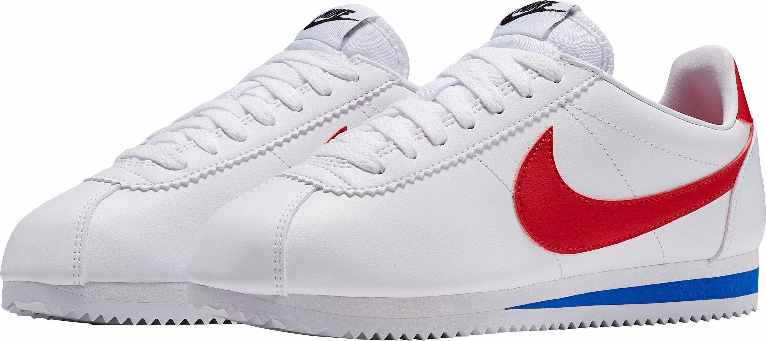 Weiße Nike Sneaker Classic Cortez Leather Wmns M1S1k