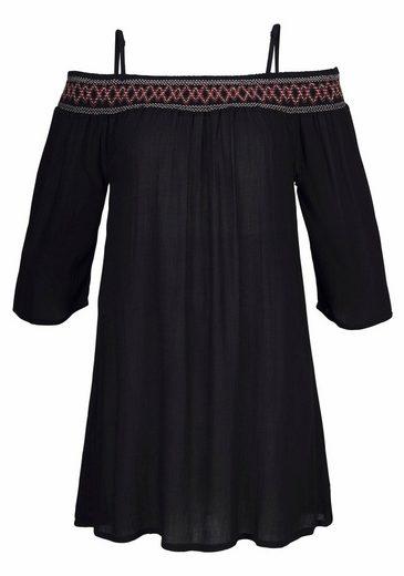 s.Oliver RED LABEL Beachwear Strandkleid aus gewebter Viskose