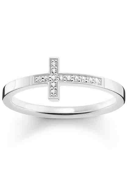 THOMAS SABO Silberring »Kreuz, TR2140-051-14« mit Zirkonia