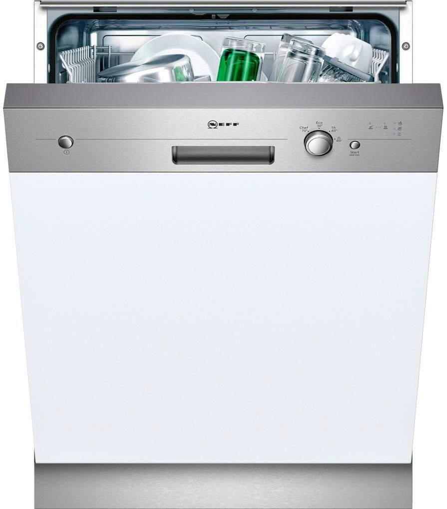 NEFF teilintegrierbarer Geschirrspüler, GI1400AN / S411A40S0E, 11,7 l, 12 Maßgedecke