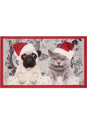 HANSE HOME Durų kilimėlis »Christmas Cat Dog« rec...