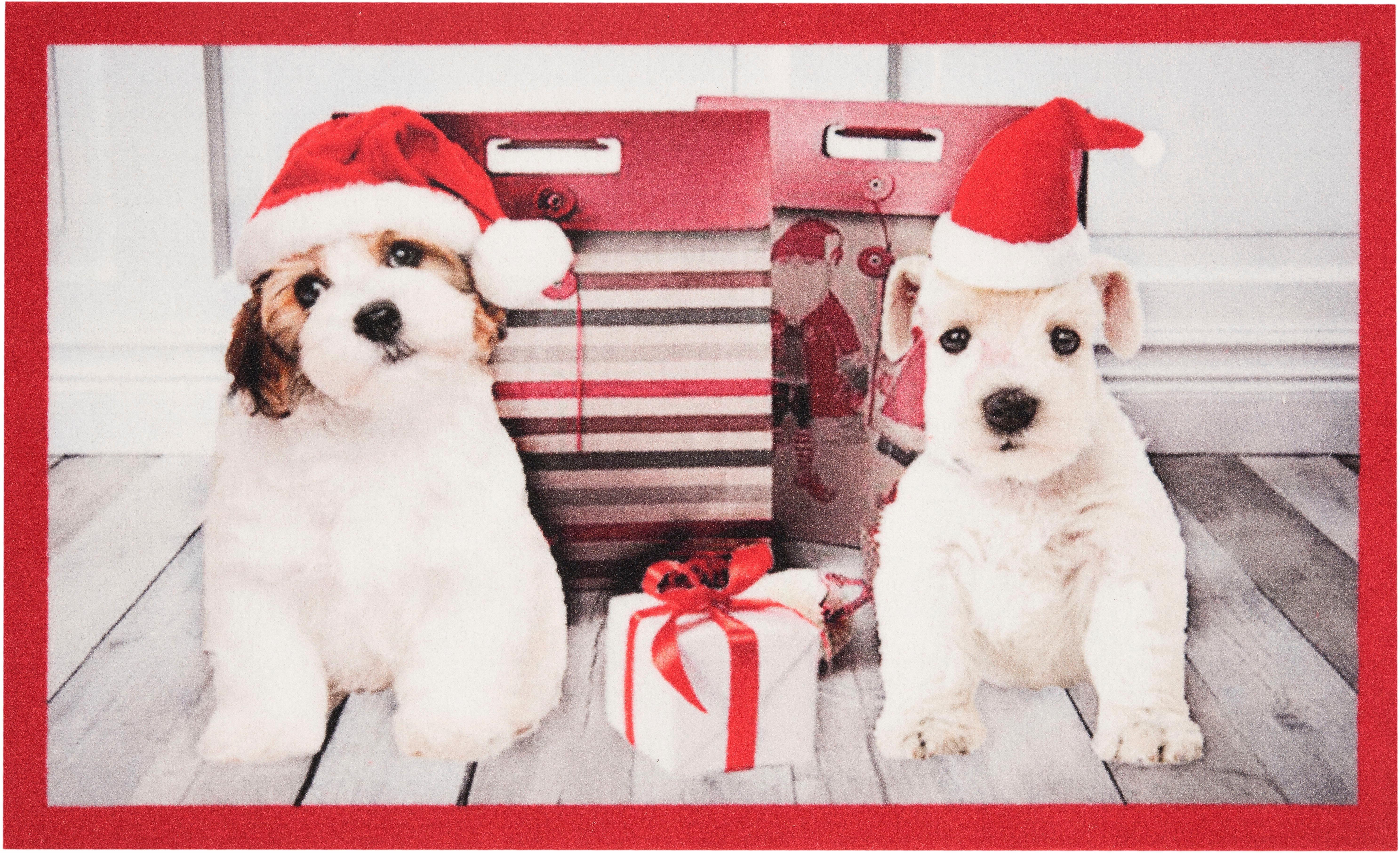 Fußmatte »Christmas Dogs«, HANSE Home, rechteckig, Höhe 7 mm | Heimtextilien > Fussmatten | HANSE Home