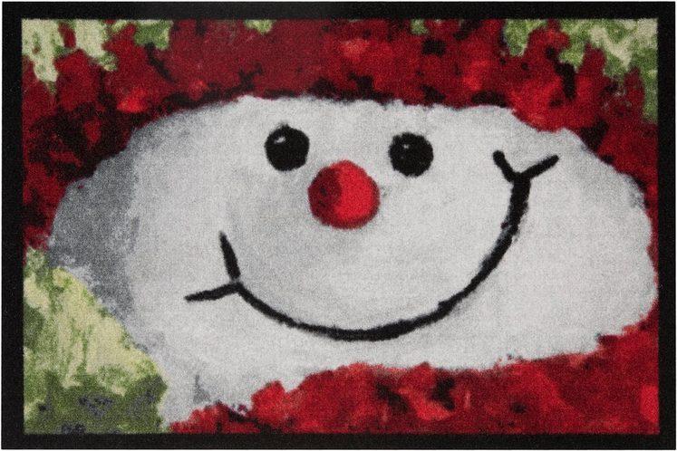 Fußmatte »Snowman«, HANSE Home, rechteckig, Höhe 7 mm, In- und Outdoor geeignet