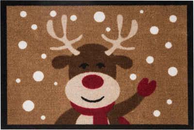 Fußmatte »Reindeer«, HANSE Home, rechteckig, Höhe 7 mm, Schmutzfangmatte, In- und Outdoor geeignet