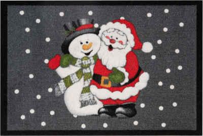 Fußmatte »Santa Snowman«, HANSE Home, rechteckig, Höhe 7 mm, Schmutzfangmatte, In- und Outdoor geeignet