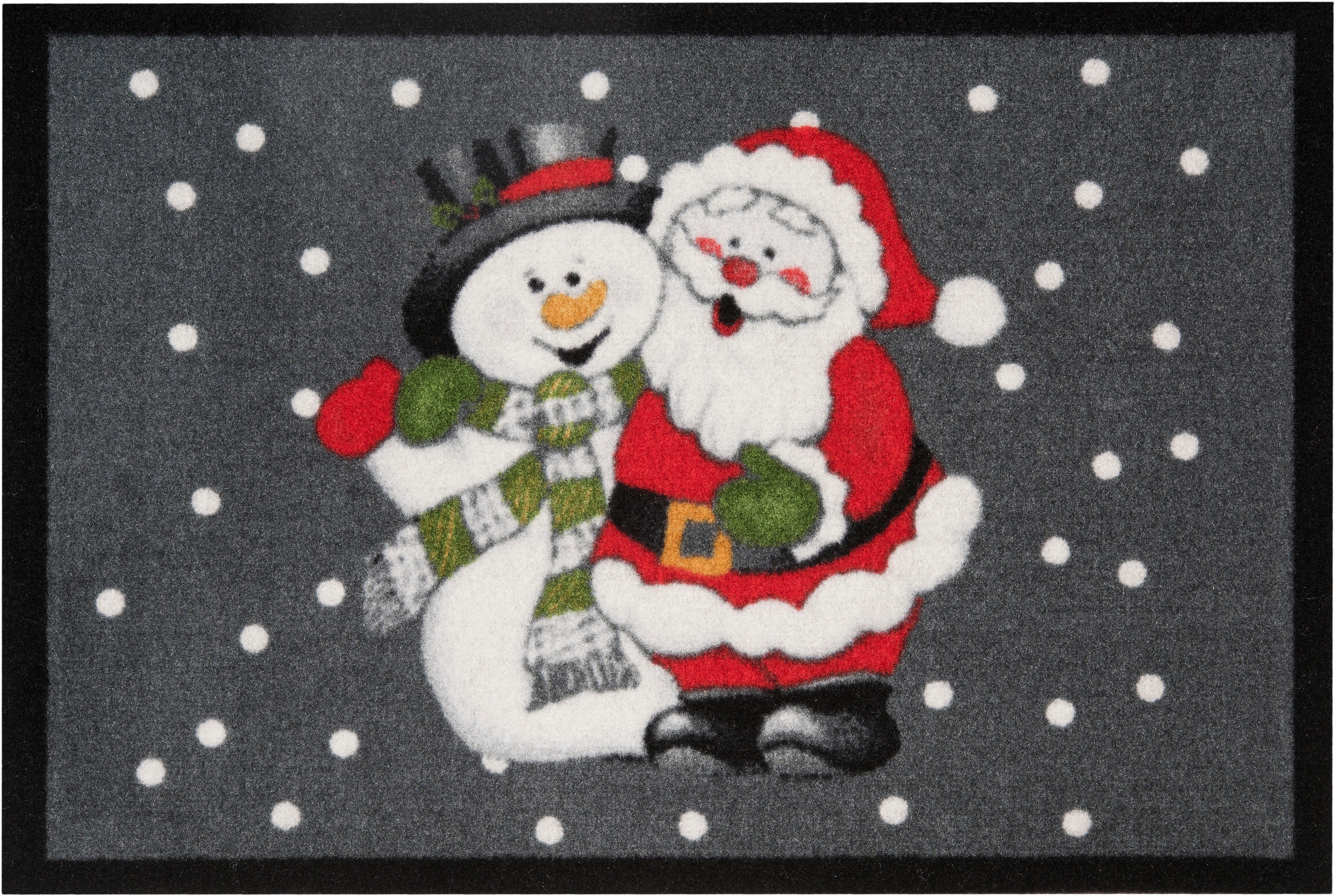 Fußmatte »Santa Snowman«, HANSE Home, rechteckig, Höhe 7 mm
