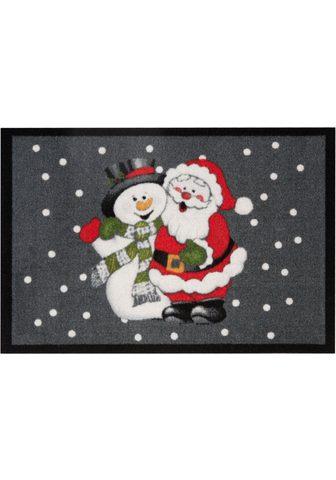 HANSE HOME Durų kilimėlis »Santa Snowman« rechtec...
