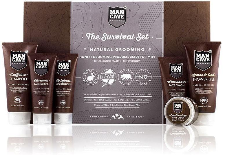 ManCave, »The Survival Set«, Körperpflegeset für Männer (6-tlg.)
