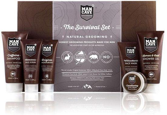 MAN CAVE Körperpflege-Set »The Survival Set«, 6-tlg., für Männer