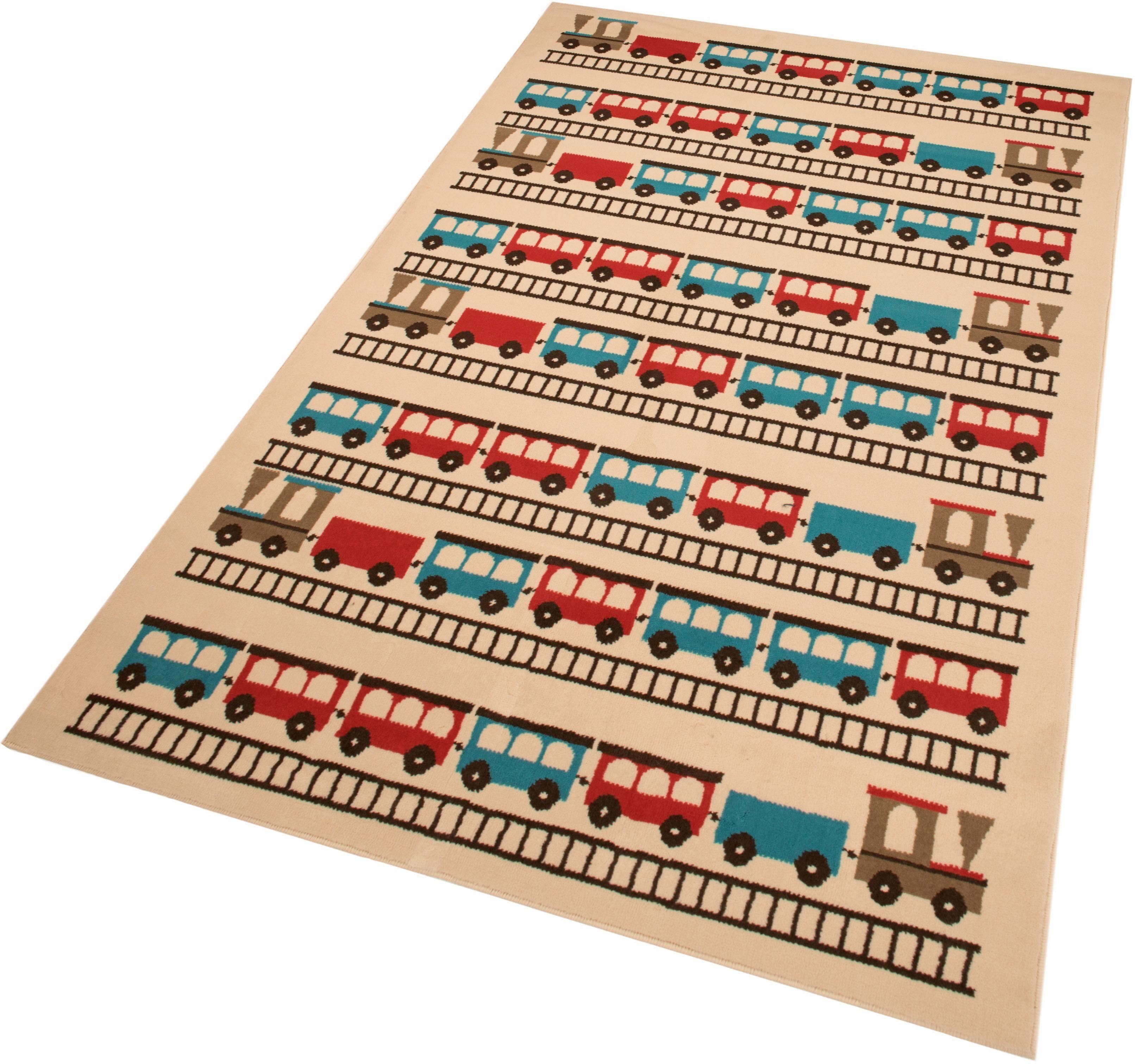 Kinderteppich »Eisenbahnen«, Zala Living, rechteckig, Höhe 9 mm