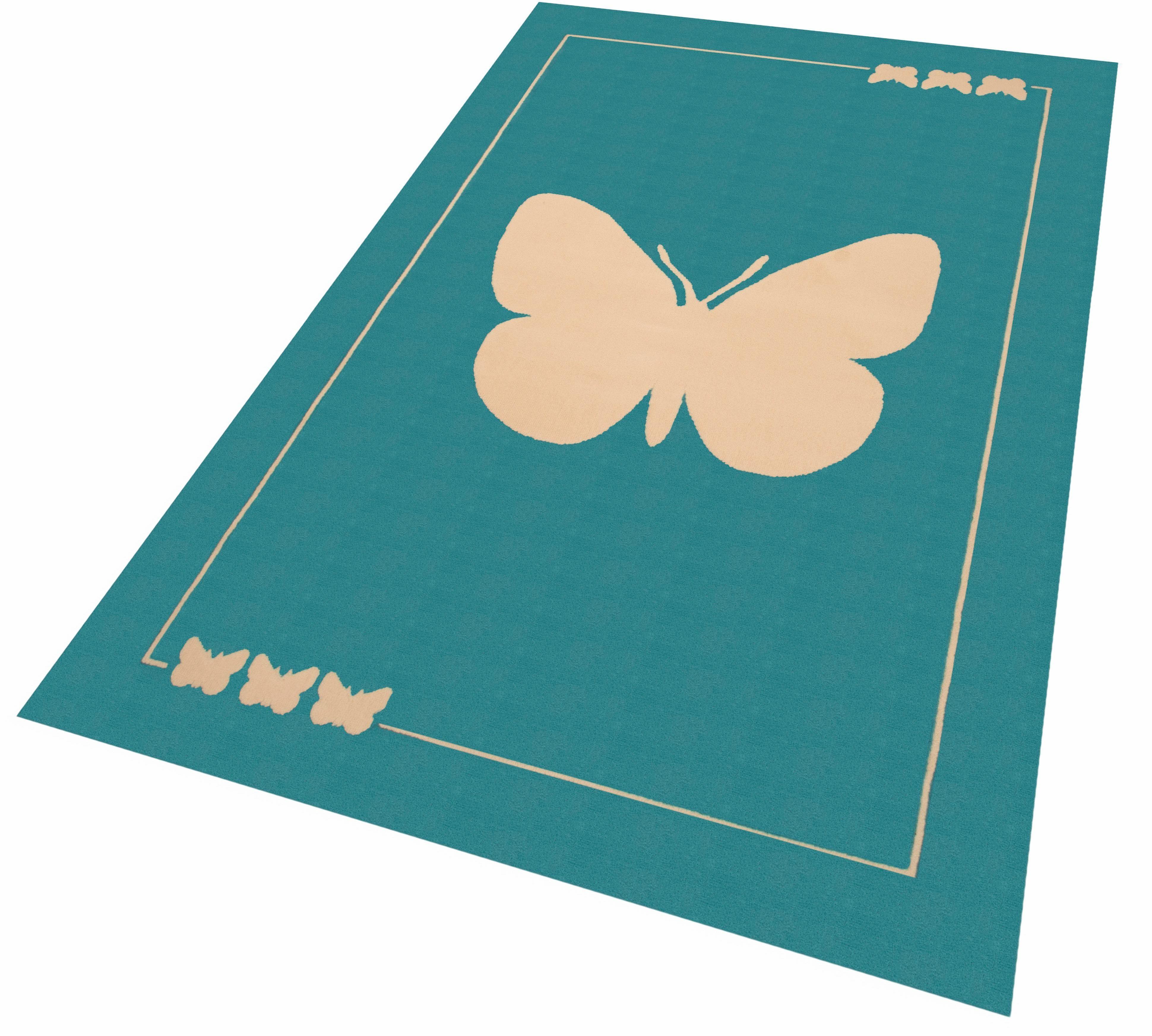 Kinderteppich »Schmetterling«, Zala Living, rechteckig, Höhe 9 mm